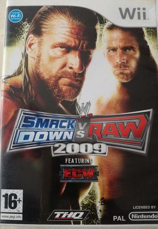 SMACK DOWN VS RAW 2009 para Wii