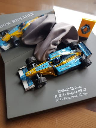 maqueta coche colección Fernando Alonso Renault F1