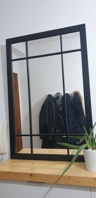 Espejo madera negro Maison du Mond