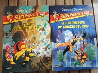 Llibres Geronimo Stilton de la saga de Superherois