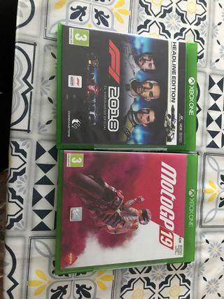 F1 2018 y moto gp 19 Xbox One