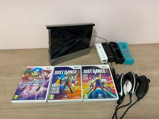 Wii con todos los accesorios más juegos y cables