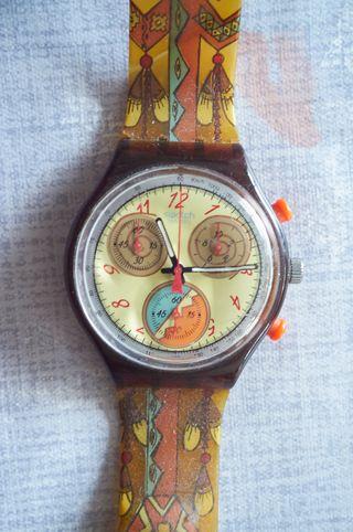 Reloj pulsera Swatch cronógrafo vintage