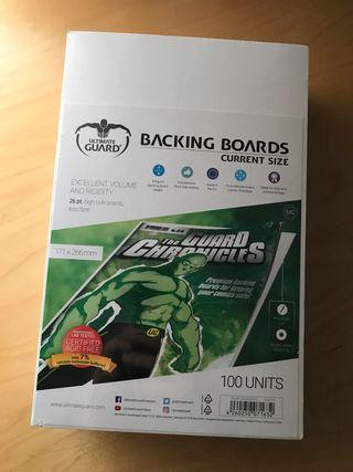 Backing boards para comics