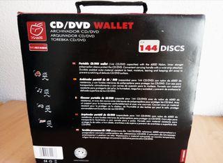 Archivador nuevo grande 30cm 144 CD /DVD portátil