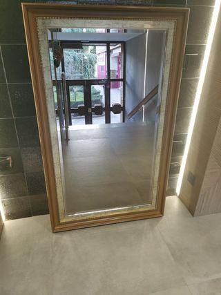 espejo grande vintage perfecto estado de calidad