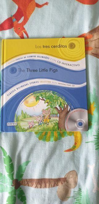 Los tres cerditos bilingue con CD interactivo