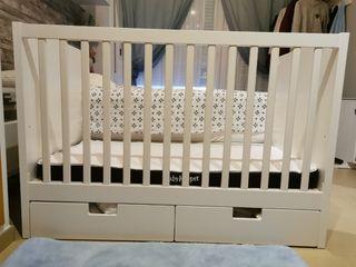 Cuna Ikea Stuva + colchón baby keeper