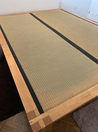 Estructura cama Tatami japonés y colchon 160x200