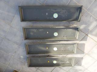 Platos para macetas rectangulares de plástico