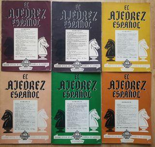 El ajedrez español (Lote 6 revistas) 1956-1958