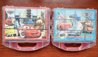 Dos puzzles de cubos Cars