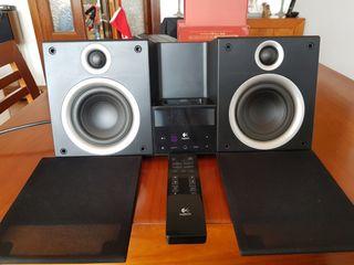 Audio Station Logitech 80W Radio am/fm iPod