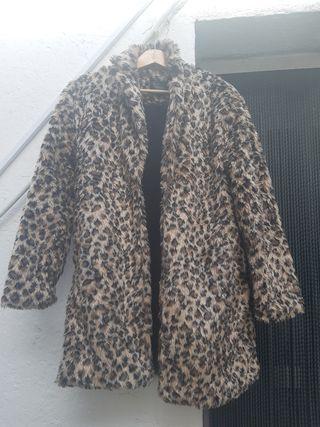 Chaquetón imitación piel leopardo