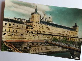 Postales de El Escorial y Madrid