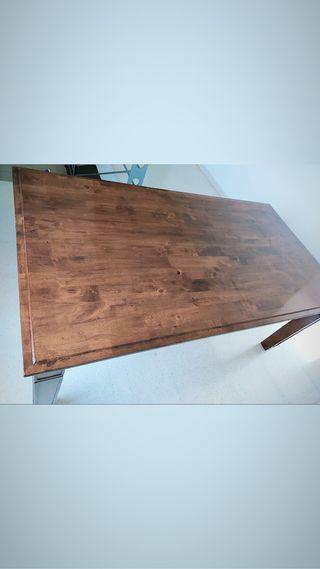 Mesa de madera de barco en perfecto estado