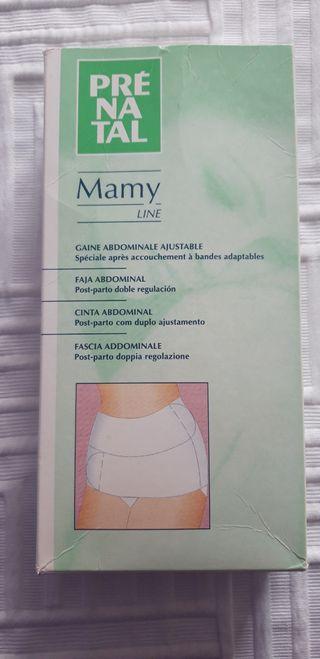 Faja abdominal post-parto.