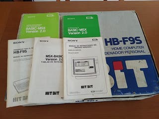 Caja y manuales Msx HB-F9s