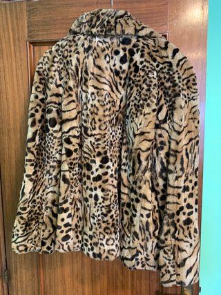 Abrigo Merry Hat piel leopardo