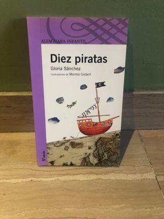 Libro Diez Piratas de Gloria Sánchez