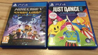 Just Dance 2015 y Minecraft Story Mode PS4