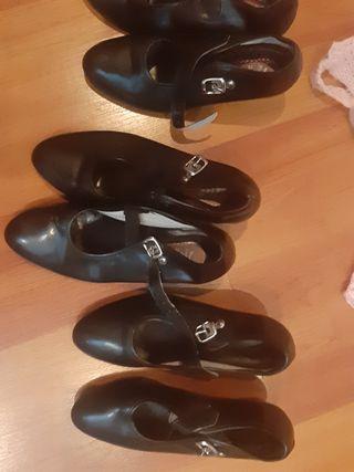zapatos de tacon flamenca