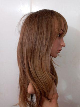 peluca realista nueva