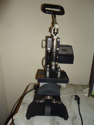 Maquina prensa de calor estampar gorras