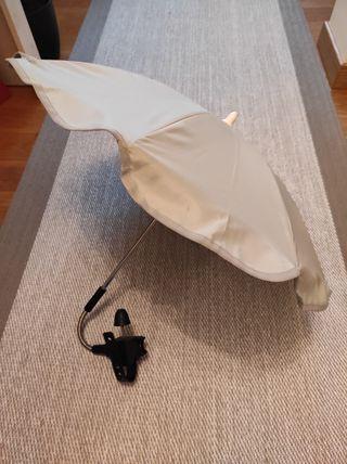 sombrilla con protección solar