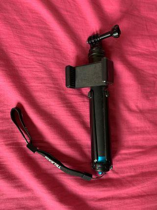 Palo selfie para gopro + móvil