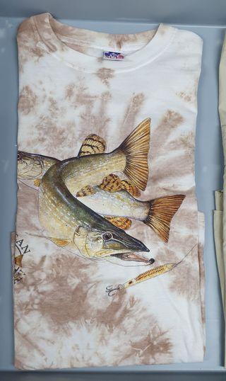 Camiseta Nine Sixt con Lucio, pesca Talla XL