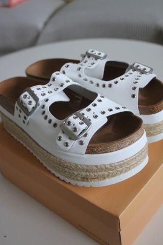 Sandalias plataforma blancas talla 40 - Mamalola