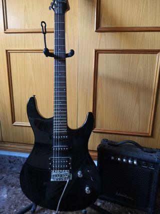 guitarra eléctrica 3/4 washburn +amplificador 15w