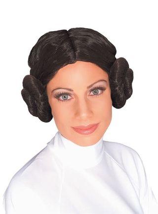 Peluca Princesa Leia para mujer- Star Wars .