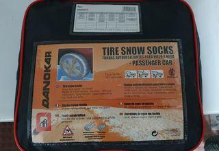 Cadenas de tela para nieve