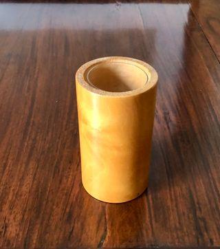 Pot à crayons ou petit vase - bois de hêtre massif