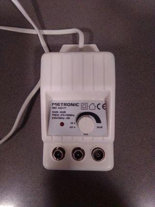 Amplificador de señal televisión.
