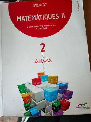 Libro Matemáticas II, 2n bach científico