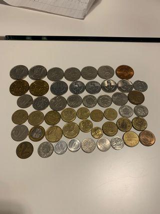 Collecion 50 monedas antiguas