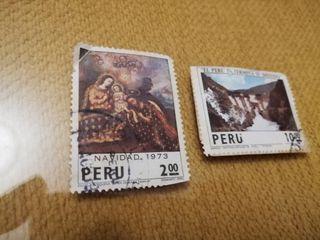 sellos de Perú año 1973