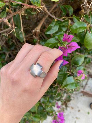 anillo de plata vintage