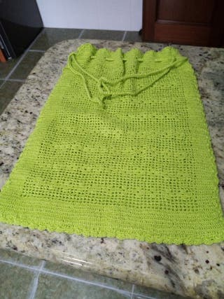 lote saco crochet y cesta
