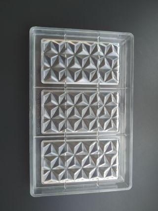 Molde de policarbonato para 3 tabletas