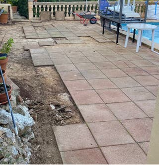 Lote baldosas usadas de 50x50 para terraza jardi