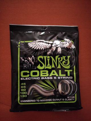 Cuerdas bajo Ernie Ball Cobalt Slinky 5