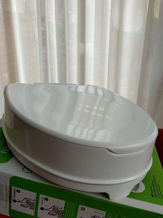 Elevador de WC con tapa, 10cm. SIN USAR