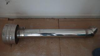 tubo chimenea de pellets