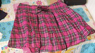 falda cuadros escoceses