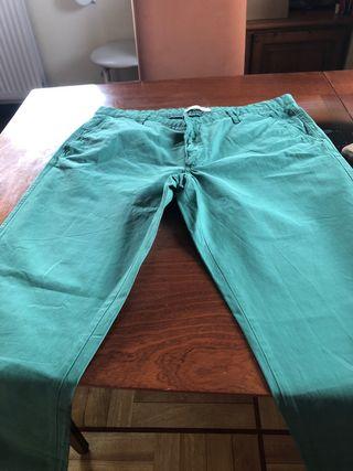Pantalón vestir color verde honbre