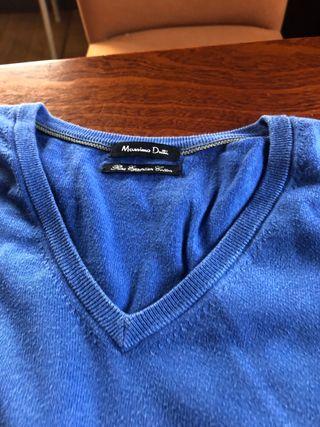 Jersey de caballero color azul
